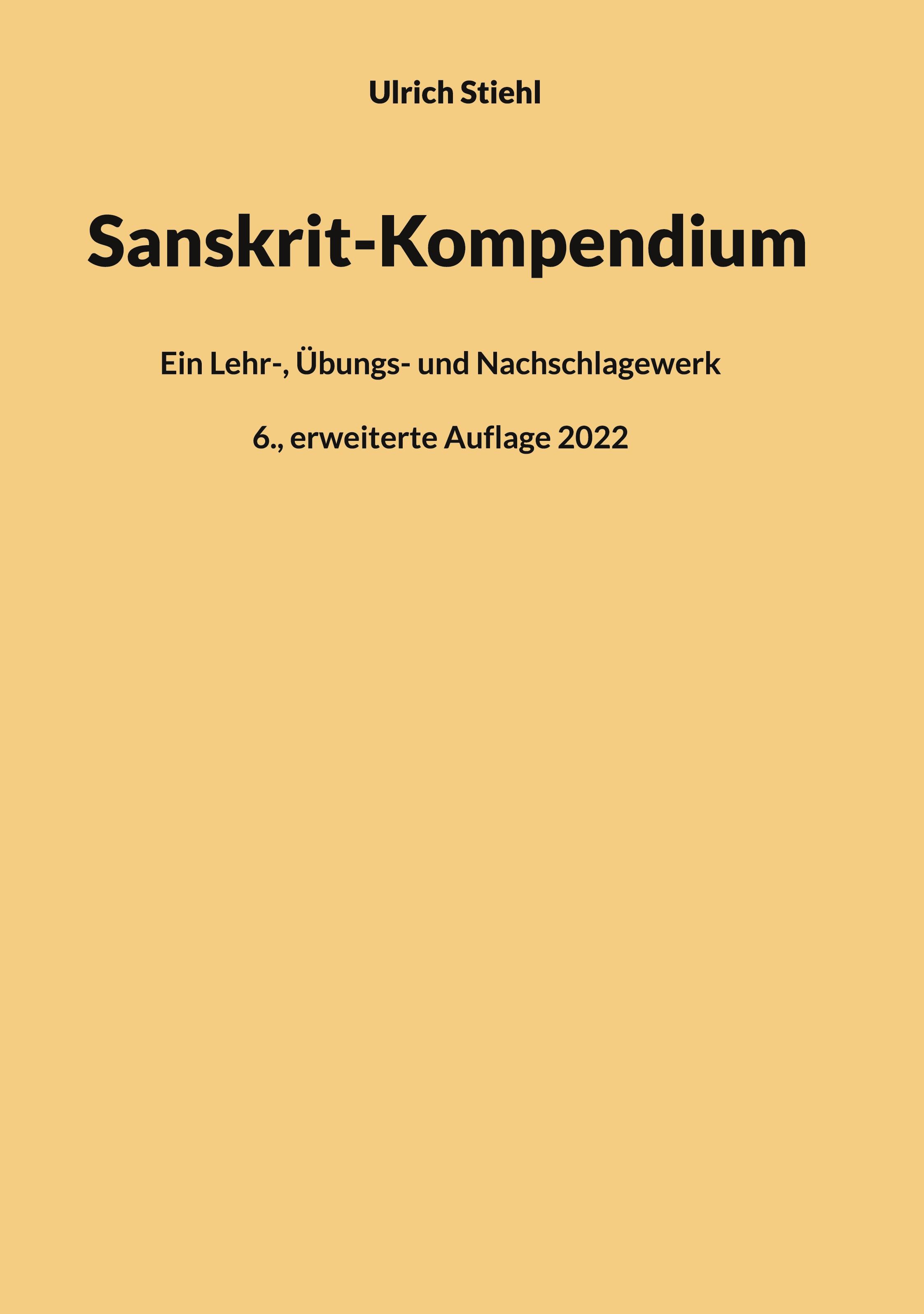 Sanskrit-Kompendium, Hardcover-Ausgabe