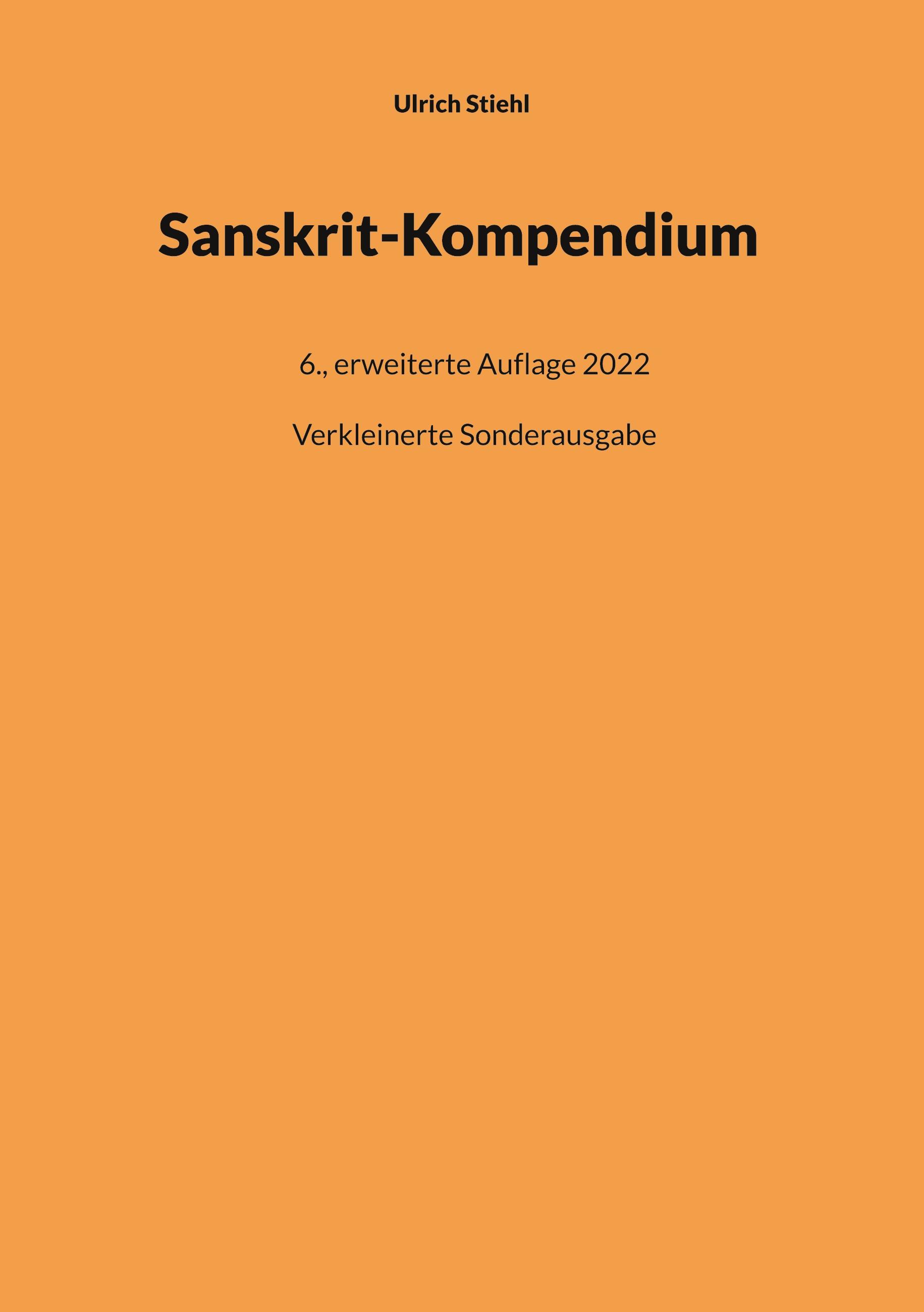 Sanskrit-Kompendium, Paperback-Ausgabe